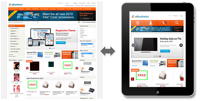 Responsive Zen Cart Themes Settings And Features Blog Ecommerce - Responsive shopping cart template