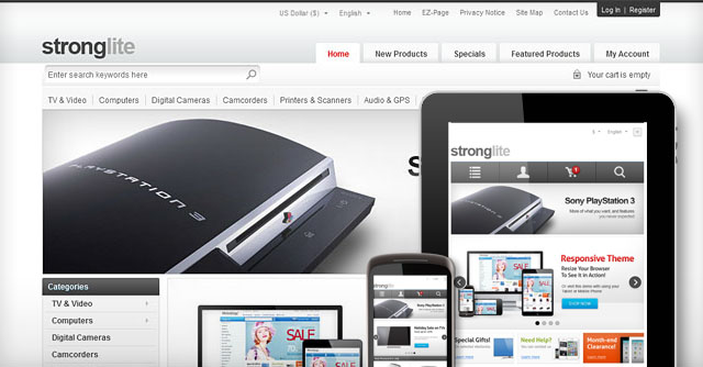 Strong Responsive Zen Cart Theme